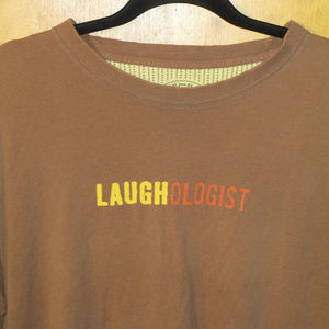 Life Is Good Shirts - Life Is Good Laughologist Spell Out Brown Shirt M